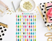 HCP03D Remember to Clean the Brushes Planner Stickers