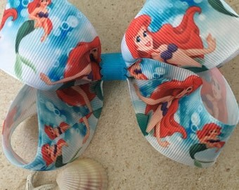 Little Mermaid Bow Ariel Hair Bow Disney Bow Disney Hair Bow Disney Princess Bow Ariel Under the Water Bow Ariel Bow