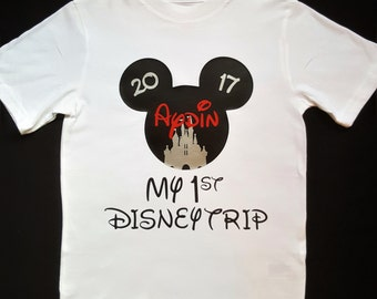 Disney Family Shirts | Mickey Mouse Shirt | Disney trip boys first Disney trip Mickey baby clothes 1st Disney visit Mickey bodysuit outfit