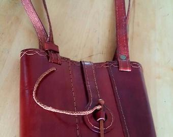 Vintage handmade leather bag ,steampunk bag ,steampunk accessories,