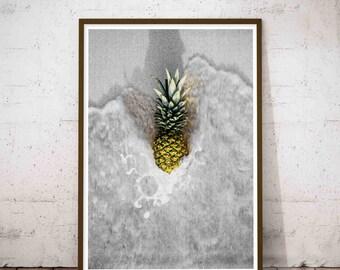 Pineapple Prints, Ananas Wall Print, Printable Pineapple, Pineapple Poster, Decals Pineapple, Pineapple Posters, Pineapple Digital Print