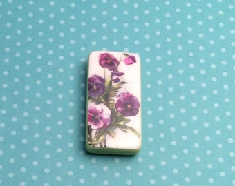 Needle minder, needleminders, nanny, keeper, magnetic, pansy, cross stitch, crossstitch, needlepoint, sewing, pins, embroidery, crosstitch