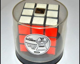 Authentic Vintage Rubiks Cube 1981 Arxon Ideal Toy Corp. Hungary with Original Plastic Box Rubik Rubic Rubix Rubics Game Puzzle Brean Teaser