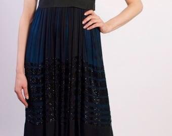 Chloe Vintage Silk Chiffon Sequin Runway Dress