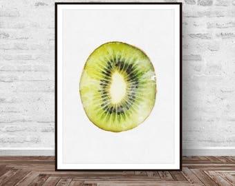 Kiwi Print, Kiwi Printable, Tropical Decor, Fruit Print, Kiwi Fruit Print, Colourful, Modern Minimal, Wall Art Gift, Instant Download