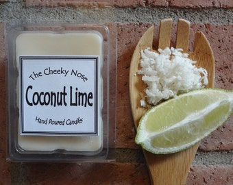 Coconut Lime Wax Melts, Soy Wax Melts, Coconut Wax Melts, Summer Wax Melts, Scented Soy Melts, Soy Tarts, Lime Wax Melts, Lime Tarts, Melts