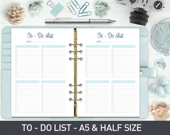 To Do List Printable, To Do Planner Inserts, To Do List Notepad, To Do List Notebook, Printable Planner Pages, A5 To Do List Printable