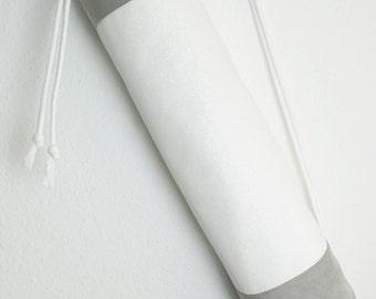 "Yoga bag ""white sparkle"" / Yoga mat bag / Kundalini Yoga / gym bag / white, gray, glitter / vegan / / Yoga mat bag, ultra suede"