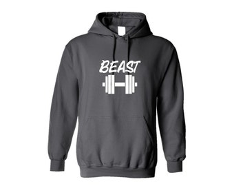 Hoodie Beast Hooded Sweatshirt Workout Hoodie Workout Sweatshirt Fitness Motivation Do You Even Lift Training Gym Clothes Gift For Him T s
