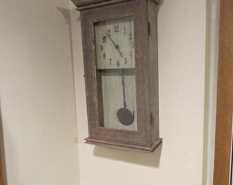 barnwood pendulum wall clock - Pendulum Wall Clock