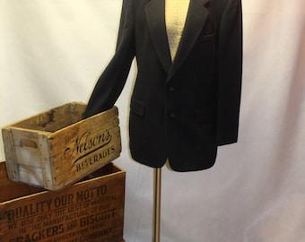Men's Vintage Christian Dior 100% Cashmere Navy Blazer.  1960's