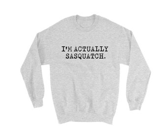 I'm Actually Sasquatch Sweater | Sasquatch Sweater | Funny Sweater | BigFoot Sweater | Funny Beard Sweater | Beard Sweater | Beard