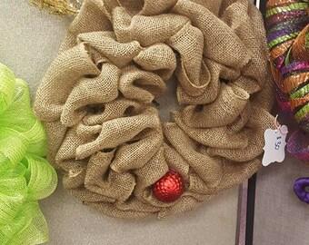 reindeer wreath/Rudolph wreath/Christmas wreath/ reindeer/reindeer wreath/ Christmas/ Rudolph/ winter/holiday