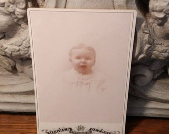 Precious Antique Baby Cabinet Card - Faded Sentimental Appeal - Antique Photo