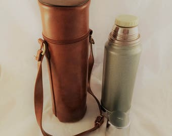 Vintage Stanley Sportsman Thermos Vacuum Bottle with vinyl carry case