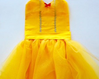 BELLE APRON Beauty And The Beast Tutu Dress Up Apron or Dress Up Costume Disney Inspired