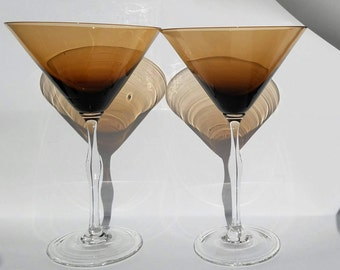 Martini glasses amber