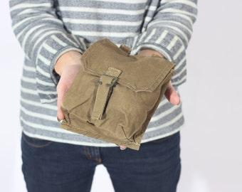 Tela Khaki bolsa, bolso del Amo del ejército, caso militar, correa del bolso, acoplable bolsa, bolsa de cadera, regalo