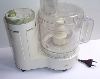 Braun AG, rare compact Robot, kitchen type 4 171, 1983, 300 W, white and green, mixer, blender, mixer, design kitchen, vintage