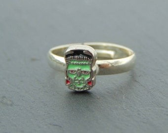 Frankestein Zombie Adjustable Ring