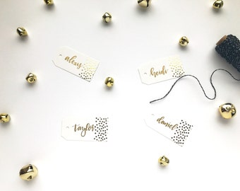 Custom Hand Lettered Holiday Gift Tags | Christmas | Calligraphy | Gift | Presents |  Personalized |