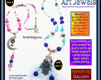 Art Jewels One-of-a-kind Necklace - Artist Designed Jewelry