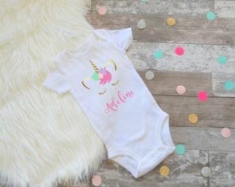 Baby Girl Clothes, Girls First Birthday, Unicorn Birthday, Unicorn Shirt, Unicorn First Birthday, Unicorn, Unicorn Birthday Outfit