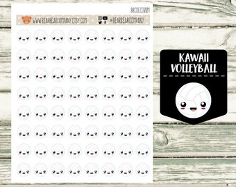 Kawaii Volleyball Planner Stickers for Happy Planner, Erin Condren, Recollections or Filofax