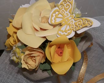 Paper flowers and Butterfly bouquet