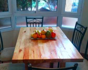 Table of dining room of wood rustic-Florida