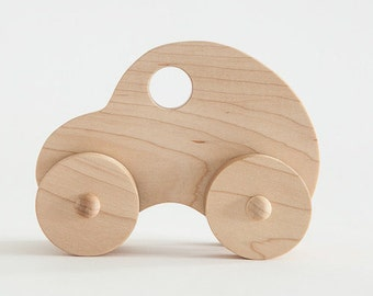 Wooden toy car - organic & handmade