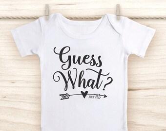 Pregnancy Announcement Shirt - Guess What Onesie® -  Baby Announcement - Pregnancy Reveal to Grandparents