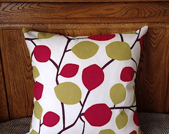 "Decorative Pillow Cover with Zip, 16''x16"" 18""x18"" Cushion Cover, Throw Pillow, Scandinavian, 100% Cotton, Zip Cushion"
