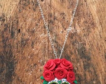 Day of the Dead Sugar Skull Pendant Necklace
