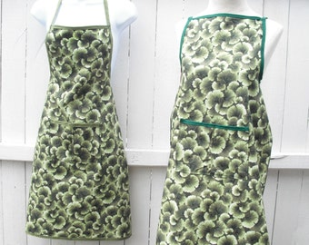 Botanical Green Apron...Housewarming Gift