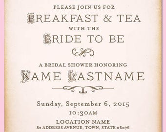 Little Teapot Bridal Shower Invitation