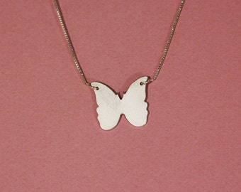 Butterfly necklace sterling silver Butterfly pendant necklace Butterfly charm necklace