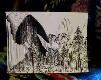 Yosemite - Original Art Print