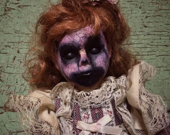 haunted porcelain Creepy Decaying style scary creepy vintage horror doll