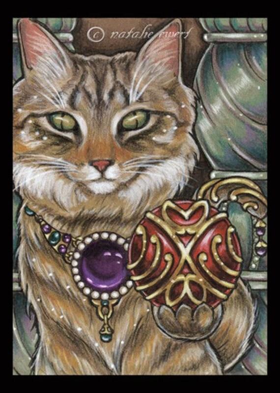 Maine Coon Cat Print Fairy Tale Print Art Illustration Fantasy Art Print Cat Lover Gift for Cat Owner Friendship Gift Home Decor Wall Art