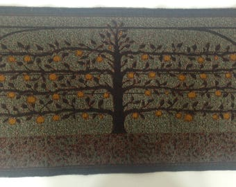 Jacquard woven panel, Espalier Apple Tree, by Laura Foster Nicholson. Free Shipping.