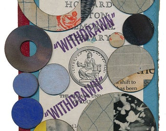 """Original Collage - On the Inside of a """"WITHDRAWN"""" Library Book - Number 8"""