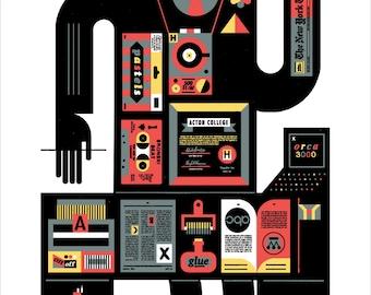 "1980s Canadian Creative History 13x22"" Art Print by Raymond Biesinger"