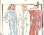 Style 1427y 1980s Misses Wrap Robe Pattern Japanese Yukata Style Draped Sleeves Womens  Sewing Pattern Size Small Bust 32 34  UNCUT