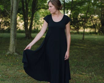 Womens Cotton Jersey Knit Dress Made in the USA - Made to Order - Durango
