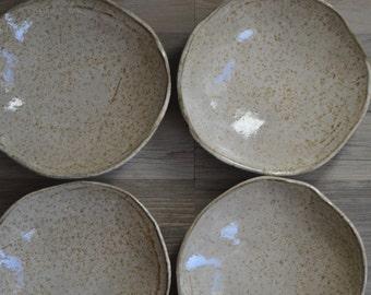 Pasta Bowls Ceramic Bowl - cappuccino glaze - dinnerware - Ceramic dinner plates - plates - cappuccino set of 4 - Ceramic plates
