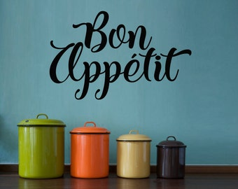 Bon Appetit Decal - Kitchen Wall Art - Dining Room Wall Decal