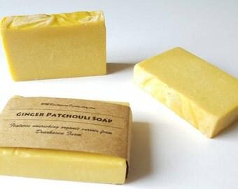 Carrot Ginger Patchouli Soap, Cold Process Soap, Handmade Soap, Natural Soap, Carrot Soap, Patchouli Soap, artisan soap, vegan soap, soap