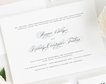 Classic Vintage Wedding Invitations - Deposit