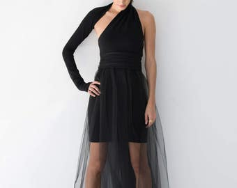 NEW Evening Gown / Prom Dress / Black Dress / Party Dress / Sleeveless Dress / Formal Dress / Tulle Dress / marcellamoda - MD860